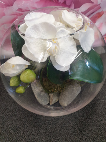 Gorgeous Silk Orchid Bowl medium