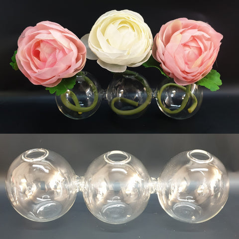 Bubble Bud Vase, 3 bubbles