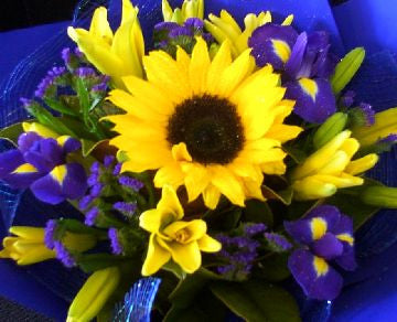Blues & Yellows Bouquet