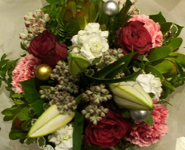 Christmas Bouquet with Lily Buds