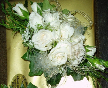 Cream and Gold Corsage