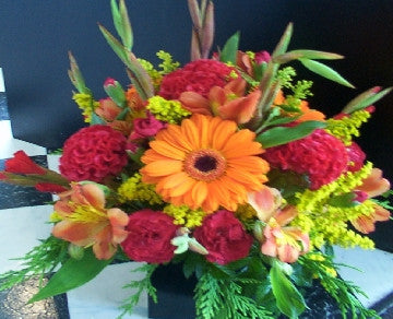 Oranges & Reds Posy Pot