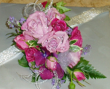 Pink and Mauve Corsage