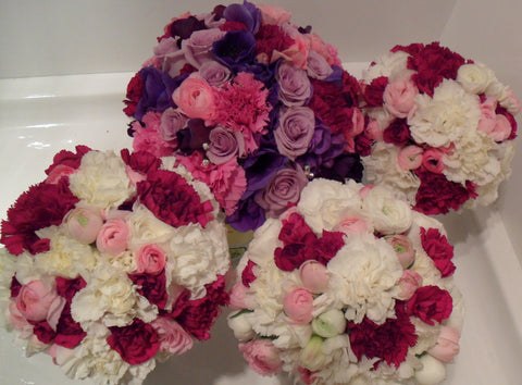 Pink and Purples Spring Wedding Bouquet