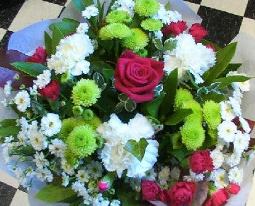 Red, Lime and White Bouquet