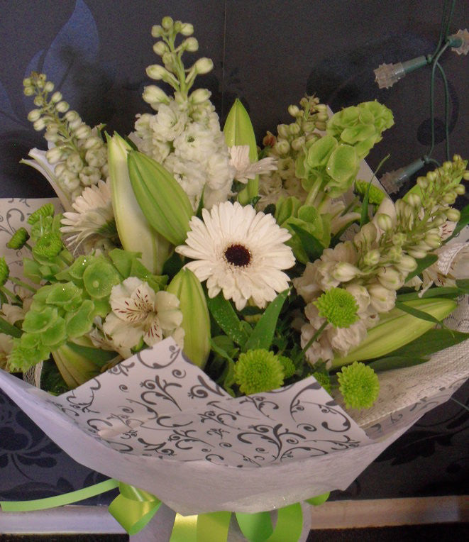Fresh Greens & Whites Bouquet