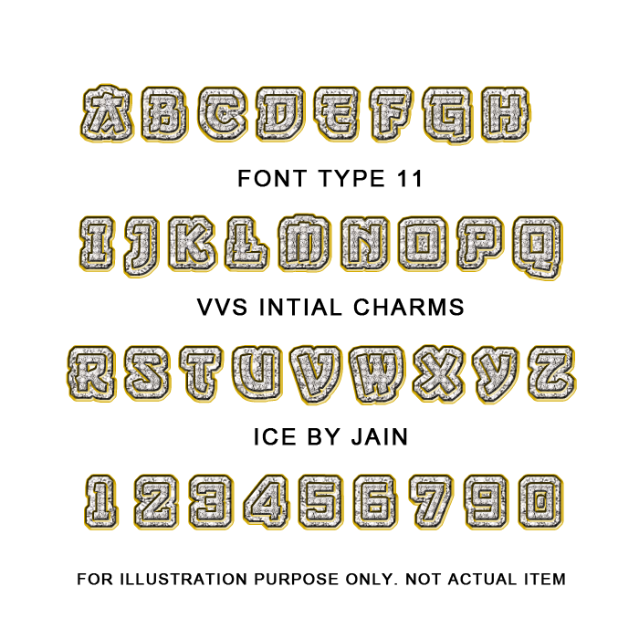 VVS Diamond Initial Charms