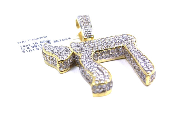 Hai Pendant 14k Yellow Gold 4.99ctw Diamonds
