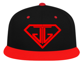 JTJ Blood Red Logo Snapback Hat