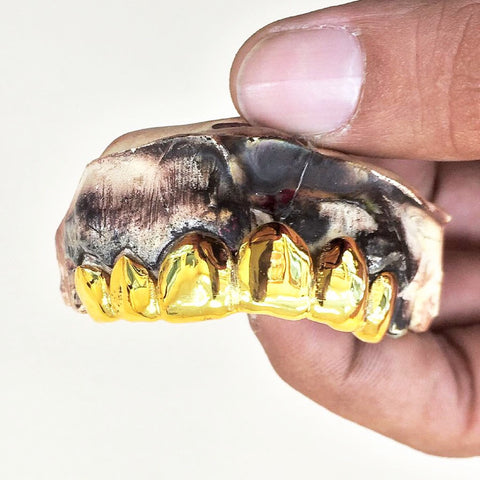 6 Piece 22k Gold Teeth Top or Bottom