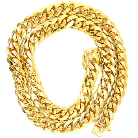 "14kt Miami Cuban Link Chain 22"" 10mm"