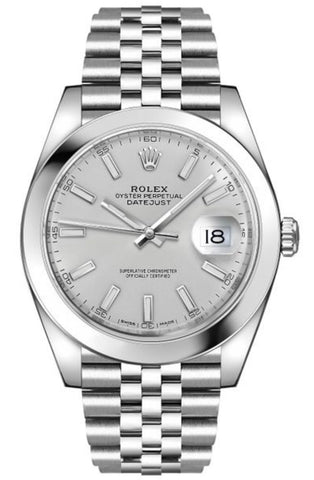 Rolex Datejust 41 Silver Index Dial Ref# 126300