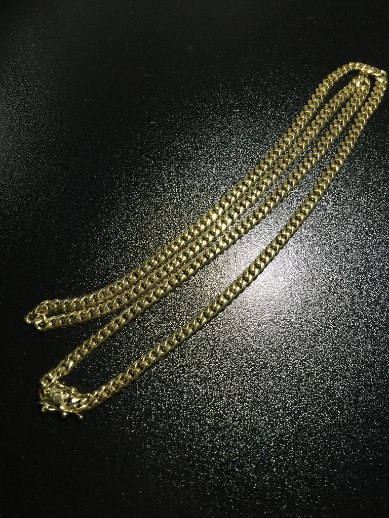 "14k Miami Cuban Link Chain 26"" 4.7mm"
