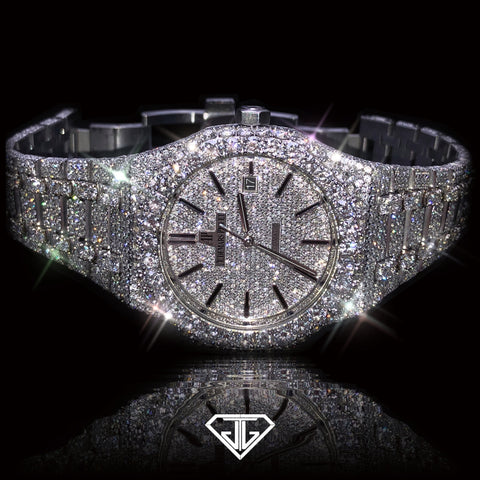 Audemar's Piguet Royal Oak 15400 White Gold / Stainless Steel Diamond Watch