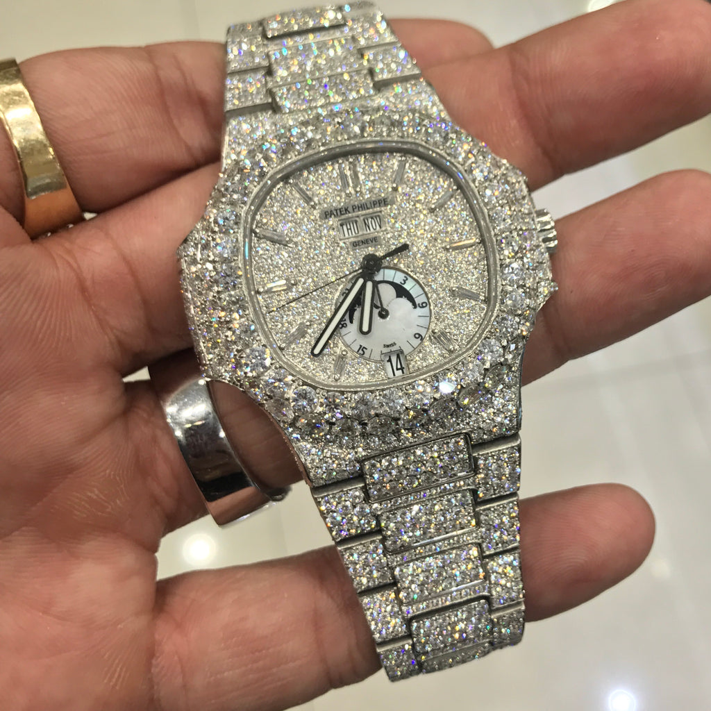 diamond watches oak pave introduction offshore royal piguet audemars full