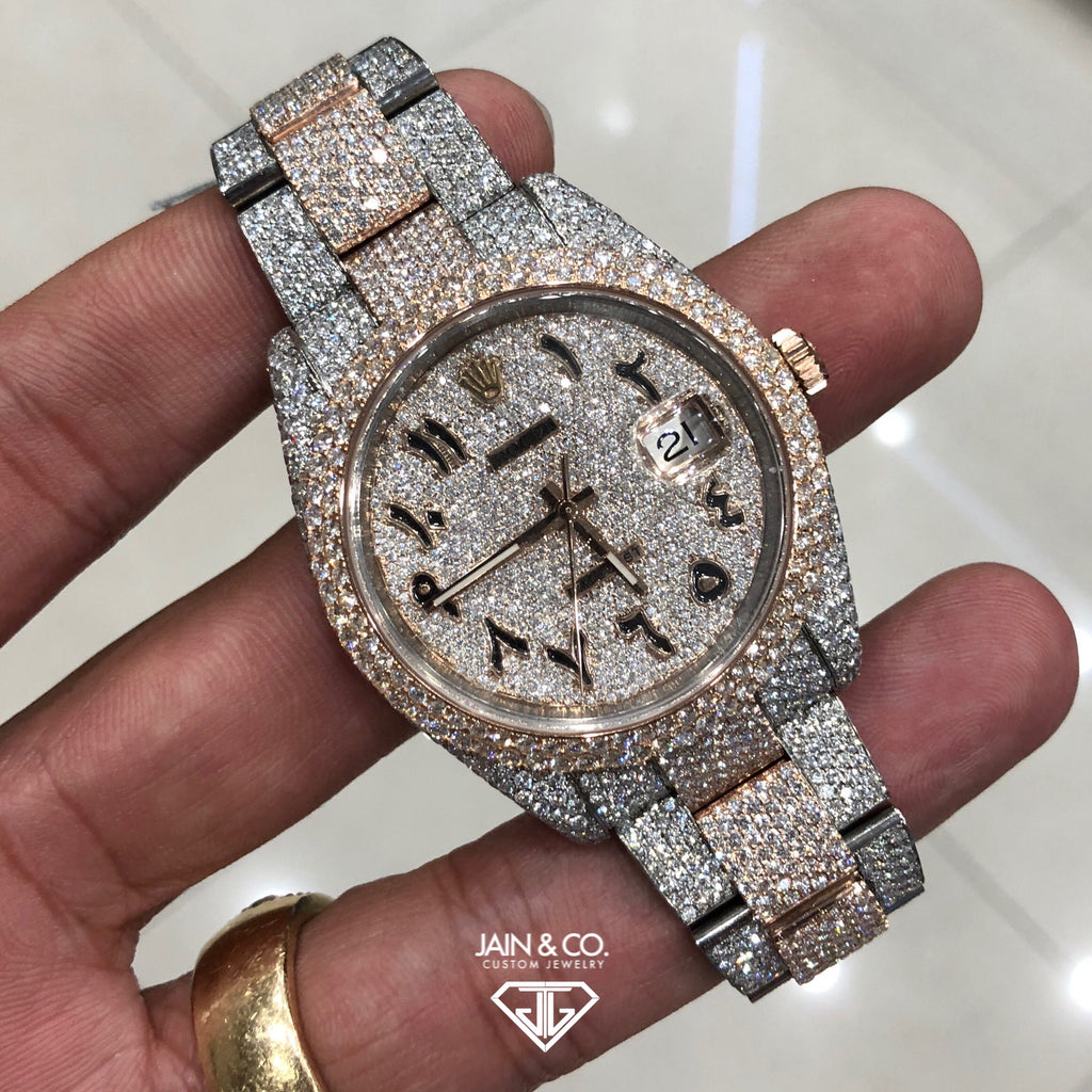 Rolex DateJust 41 Everose Arabic Diamond Dial
