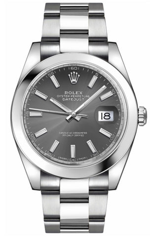 Rolex Datejust 41 Dark Rhodium Dial Ref# 126300