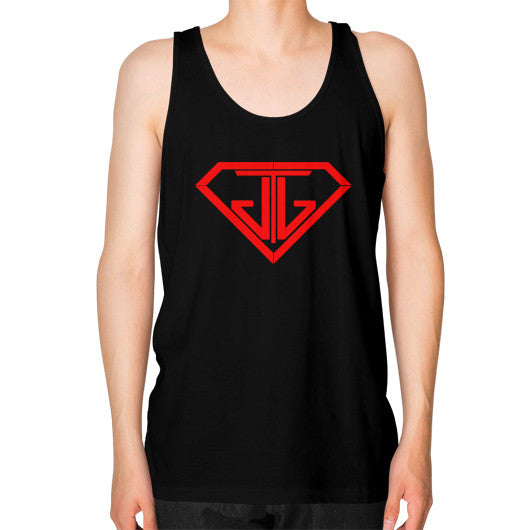 JTJ Blood Red Logo Men's Tank Top Black - Jain The Jeweler