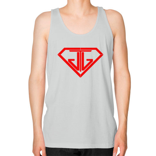 JTJ Blood Red Logo Men's Tank Top Silver - Jain The Jeweler
