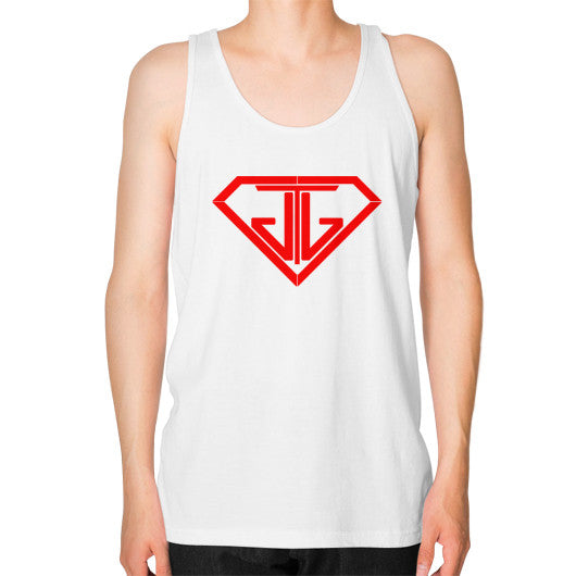 JTJ Blood Red Logo Men's Tank Top White - Jain The Jeweler