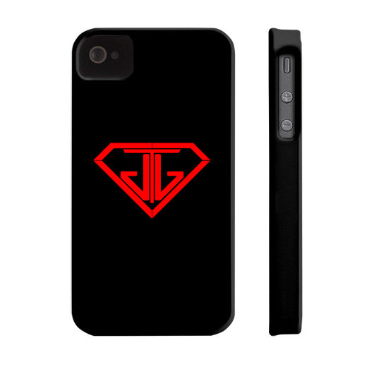 JTJ Blood Red Logo Phone Case Slim iPhone 4/4s - Jain The Jeweler