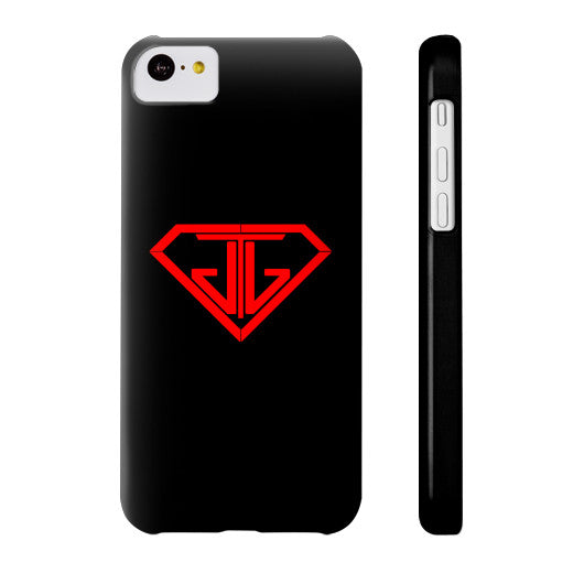 JTJ Blood Red Logo Phone Case Slim iPhone 5C - Jain The Jeweler