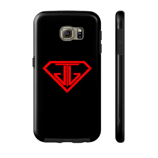 JTJ Blood Red Logo Phone Case Tough Galaxy s6 - Jain The Jeweler