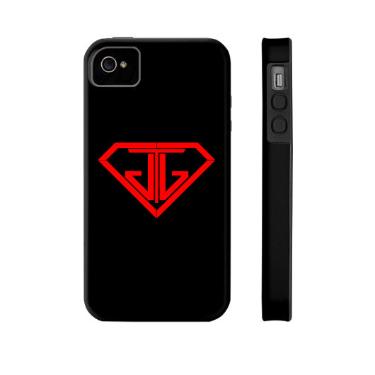 JTJ Blood Red Logo Phone Case Tough iPhone 4/4s - Jain The Jeweler