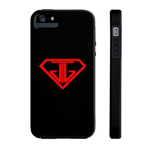 JTJ Blood Red Logo Phone Case Tough iPhone 5/5s - Jain The Jeweler