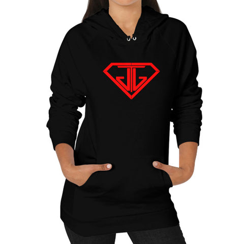 JTJ Blood Red Logo Women's Hoodie Black - Jain The Jeweler