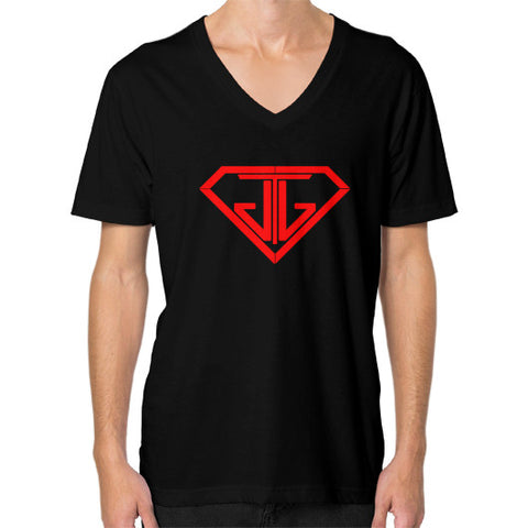 V-Neck (on man) Black - Jain The Jeweler