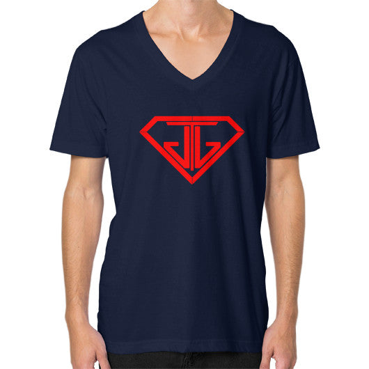 V-Neck (on man) Navy - Jain The Jeweler