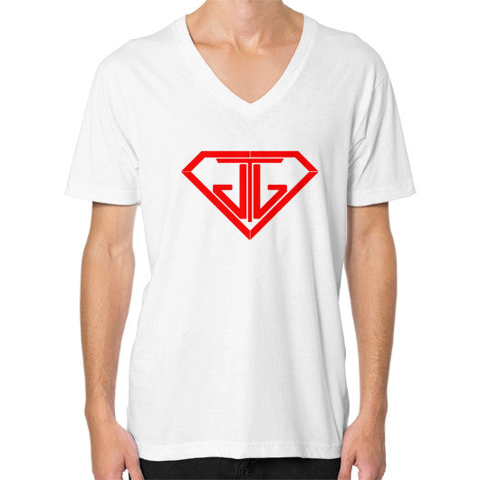 V-Neck (on man) White - Jain The Jeweler
