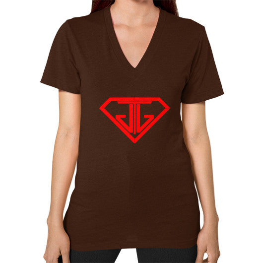 V-Neck (on woman) Brown - Jain The Jeweler