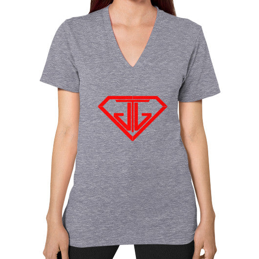 V-Neck (on woman) Tri-Blend Grey - Jain The Jeweler