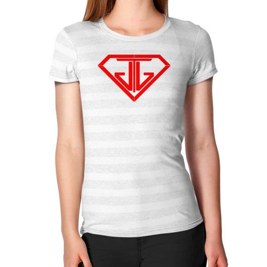 Women's T-Shirt Ash White Stripe - Jain The Jeweler