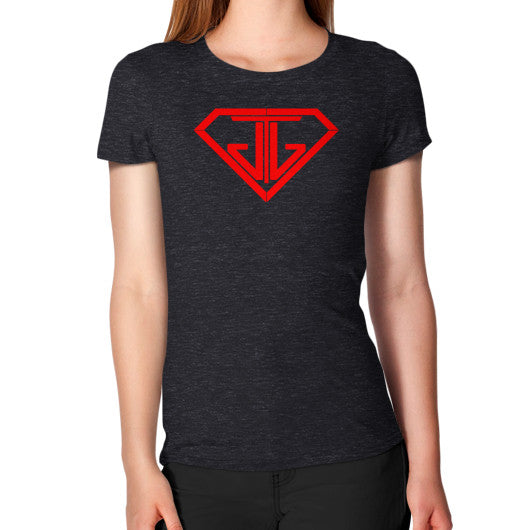 Women's T-Shirt Tri-Blend Black - Jain The Jeweler