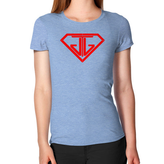Women's T-Shirt Tri-Blend Blue - Jain The Jeweler