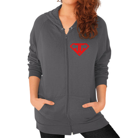 Zip Hoodie (on woman) Asphalt - Jain The Jeweler