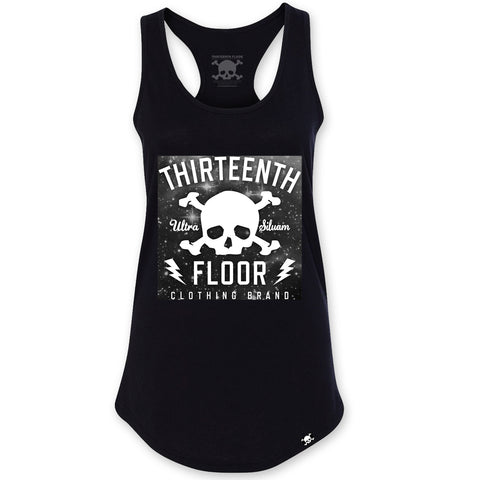 Skull & Bones Galaxy Racerback Tank Top - Black