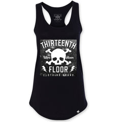 Skull & Bones Galaxy Racerback Tank Top - Black - Thirteenth Floor