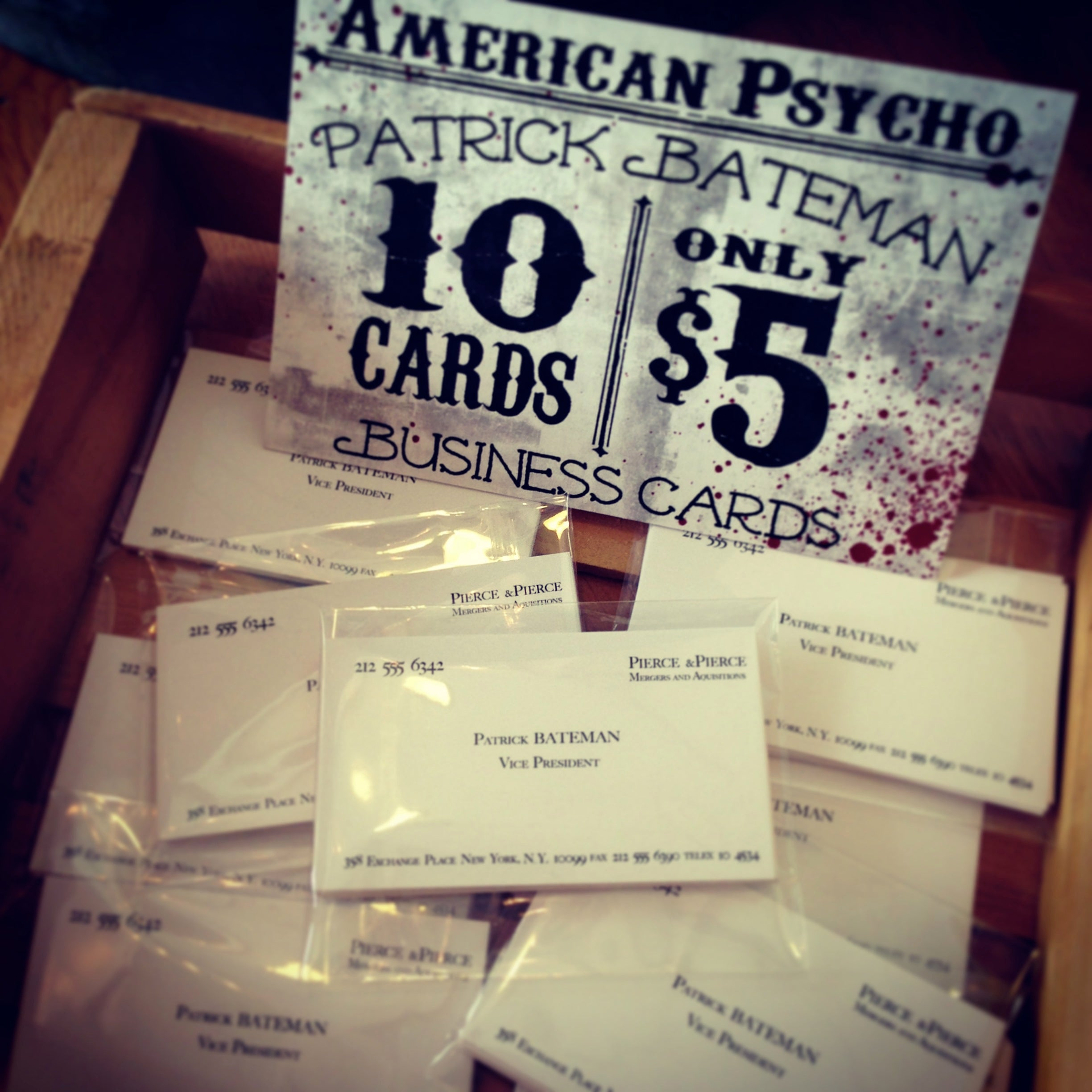 Patrick Bateman Business Cards • American Psycho – Thirteenth Floor