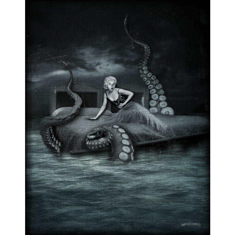 Octopus Attack - Canvas - Thirteenth Floor