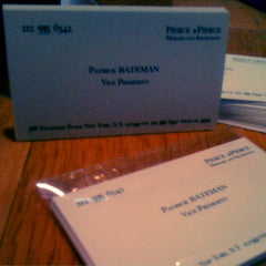 Patrick Bateman Business Cards • American Psycho