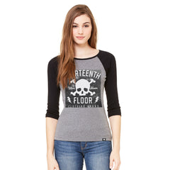 Skull & Bones Galaxy Raglan - Deep Heather/Black - Thirteenth Floor