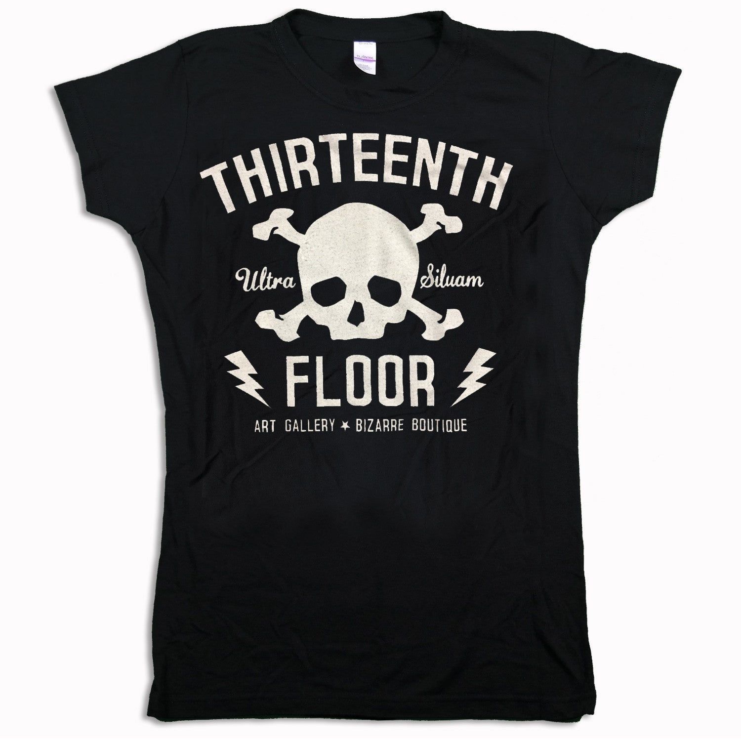 Skull & Bones (White) Women's T-shirt - Thirteenth Floor