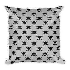 Skull & Bones (Pattern) Throw Pillow