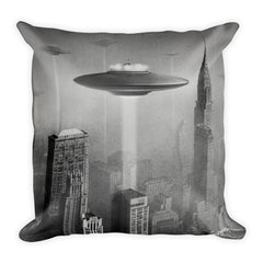NYC '53 Invasion Throw Pillow