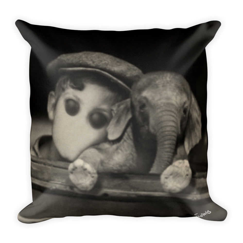 Adam's Elephant Throw Pillow