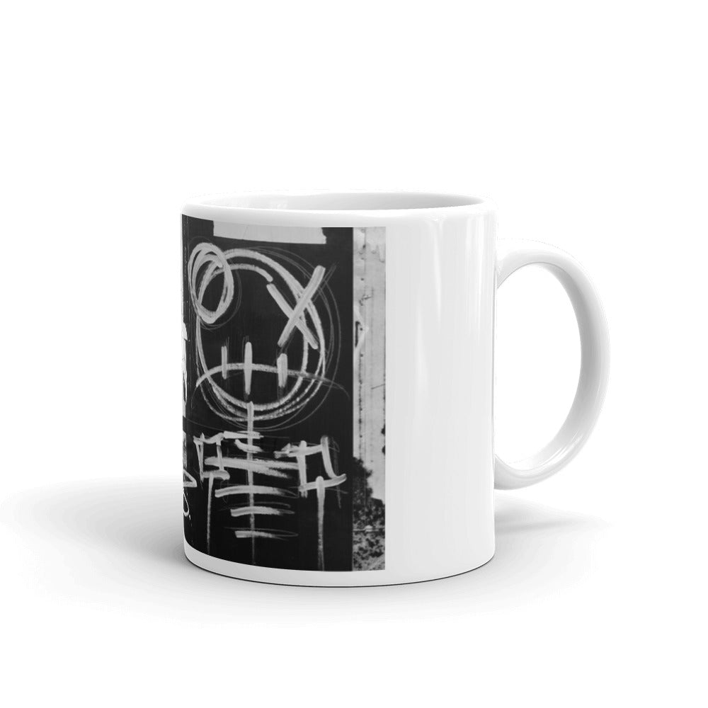 Skeleton Mixed Media Coffee Mug